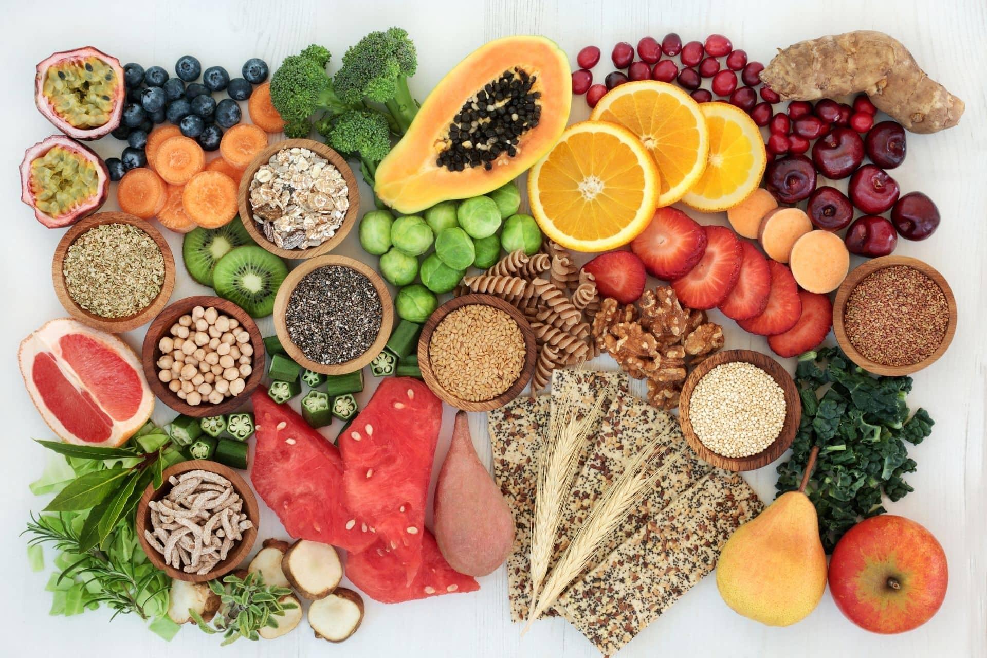 Alimentation riche en fibres alimentaires pour le microbiote intestinal Nahibu